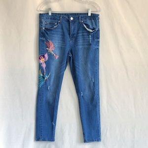 Denim - Spring Jeans Embroidered Skinny • 14